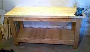 Fabriquer Un établi : photo tabli fait maison am nagement ext rieur et rangements garage table maison et ~ Melissatoandfro.com Idées de Décoration