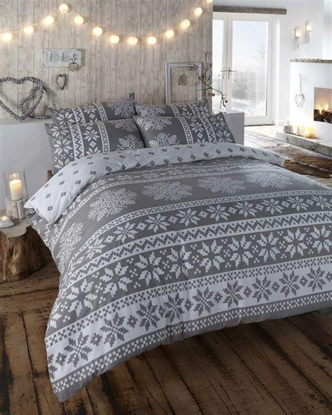 100% Brushed Cotton Flannelette Quilt Duvet Cover & 2