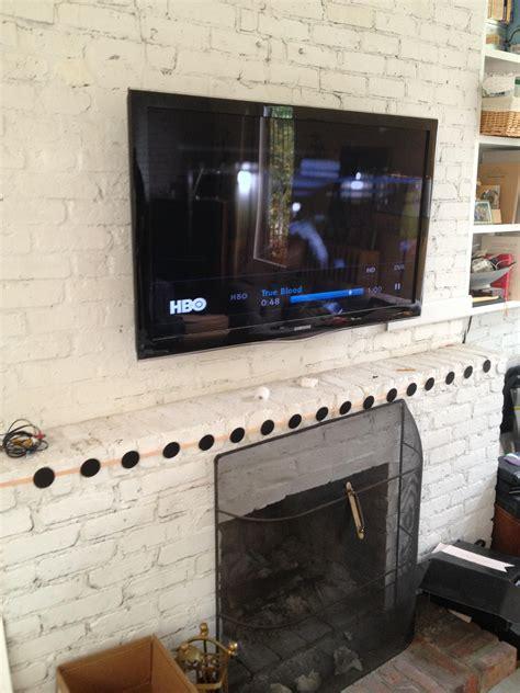 Mounting Tv Above Brick Fireplace