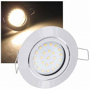 Led Spot 230v : ultraflacher led spot einbaustrahler 230v schwenkbar edelstahl leuchte 4w 330lm ebay ~ Watch28wear.com Haus und Dekorationen