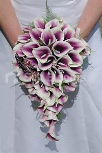 Shop Bridal Bouquet with Purple Vermeer Lilies & Crystal ...