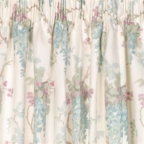 Wisteria Duck Egg Pencil Pleat Ready Made Curtains