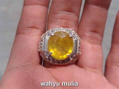 batu cincin permata yellow safir asli kode 732 wahyu mulia