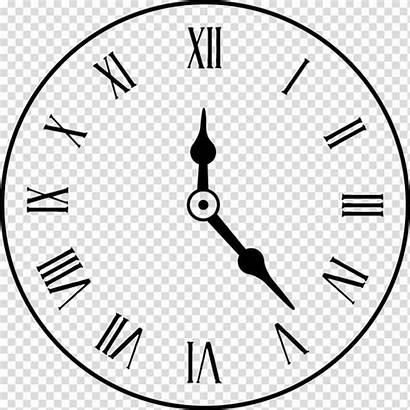 Clock Roman Transparent Numerals Numeral Analog Clipart