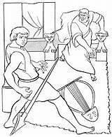 Spear Saul David Coloring Throwing Google Bible sketch template