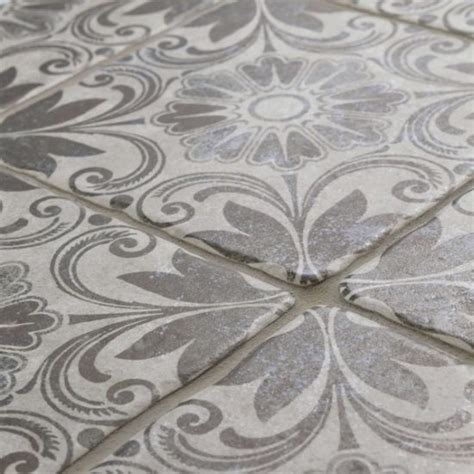 grey and white tiles patterned tile trend