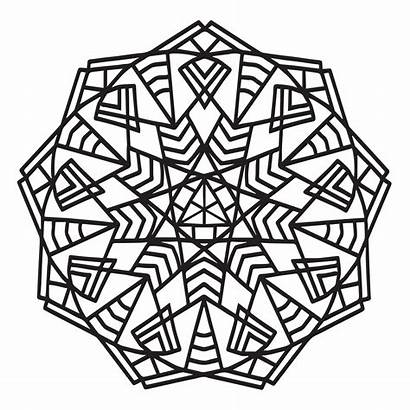 Mandala Geometric Coloring Mandalas Sheets Babadoodle Simple