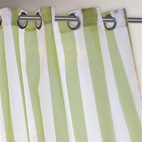 green striped curtain panels green striped escape grommet top curtain world market