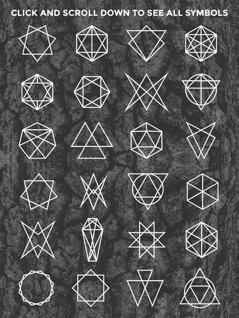 24 Occult Symbols Plus 4 Free Photos by BlackLabel on