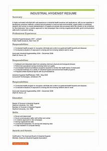 Research Job Cover Letters Sample Industrial Hygienist Resume