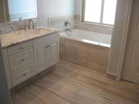 Vein Cut Tile, Travertine Tile, Bathroom Design Trends