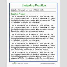 Listening Skills Quiz  Worksheet Educationcom