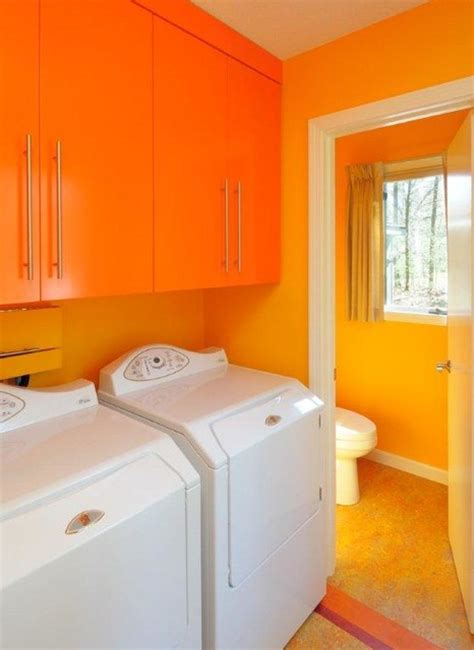 Vivid Bright Colors Kitchen And Laundry Room Modern
