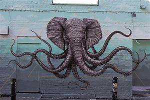 Alexis diaz new mural in london uk streetartnews for An elephant octopus mural on the streets of london by alexis diaz