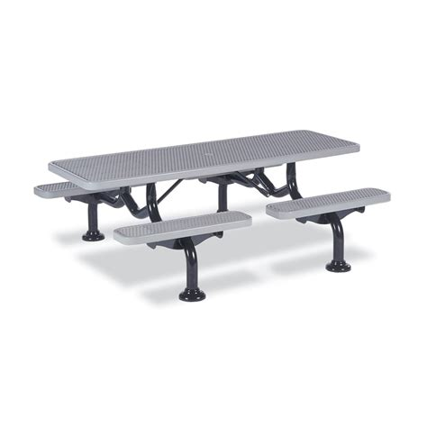 wabash 7 picnic table in ground mount krt concepts