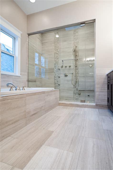 Modern Day Bathroom Ideas by White Oak Honed Marble Bathroom Contemporary Bathroom