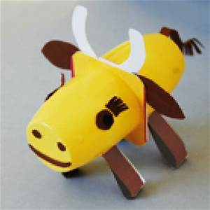 Bricolage Avec Objets De Récupération : vache en pots recyl s t te modeler ~ Nature-et-papiers.com Idées de Décoration