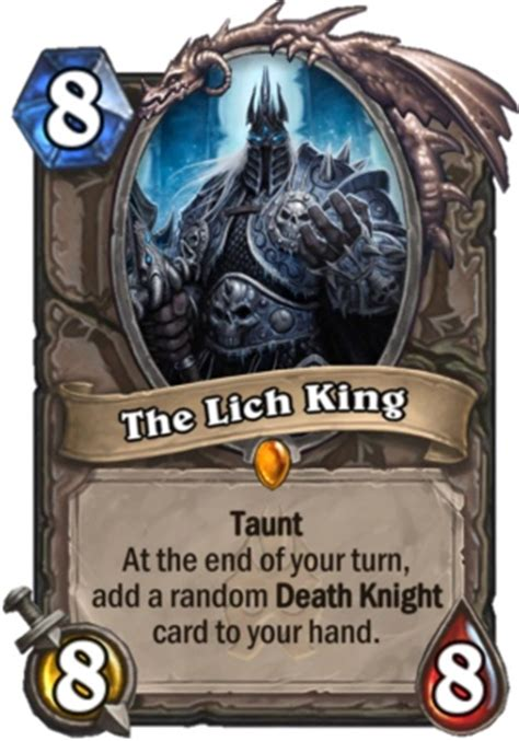 Cheap Druid Deck To Beat Lich King by Hearthstone Knights Of The Frozen Throne Card Review 4