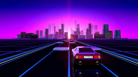 80s Neon City Wallpaper by Neon 80s Wallpaper 78 Images
