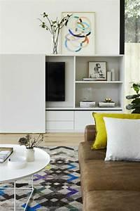 la porte coulissante en 43 variantes magnifiques With tapis moderne avec canapé cuir jaune