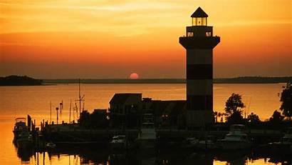 Carolina South Desktop Lighthouse Hilton Head Sunset