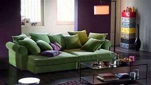 Grand Coussin Pour Canapé : grand canape tendances accueil design et mobilier ~ Teatrodelosmanantiales.com Idées de Décoration