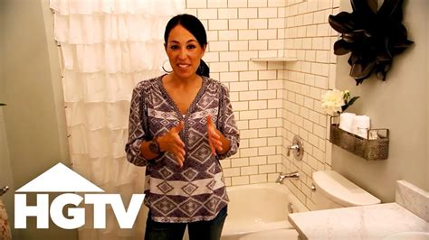 fixer upper visually enlarge  small bathroom youtube