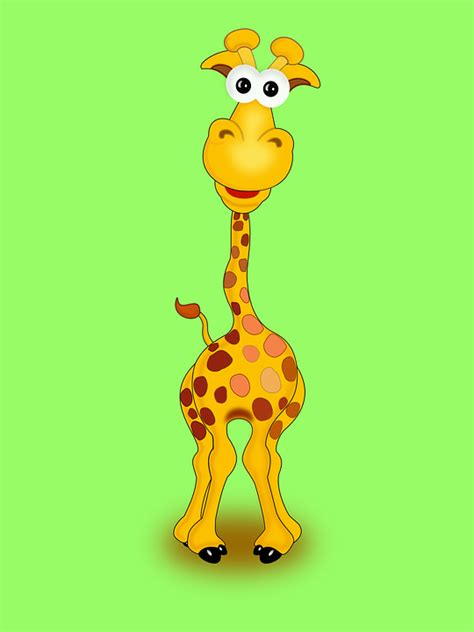 illustration giraffe animal funny happy