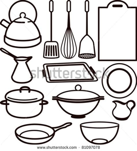cooking utensils drawing clipart panda  clipart images