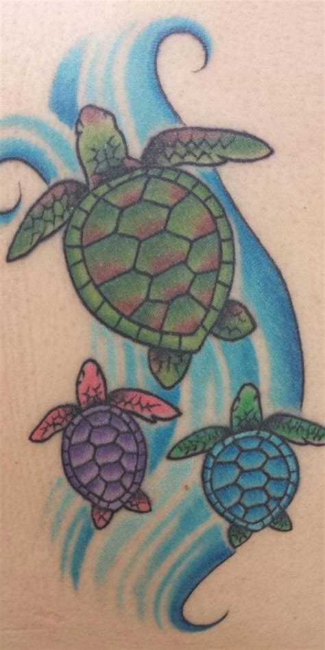 hawaiian sea turtle tattoos    orange shell