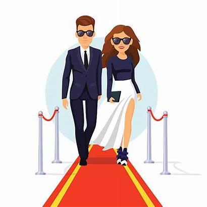Clipart Celebrity Celebrities Carpet Vector Rich Fame