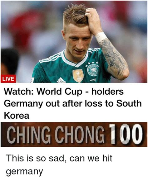 world cup holders germany   loss