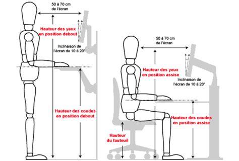 bureau position debout bureaux assis debout installations et retour d