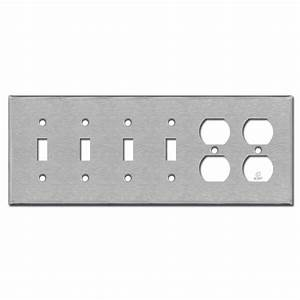 2 Duplex Receptacle 4 Toggle Wall Plate