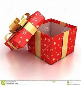 Open Gift Box Over White Background Stock Photos