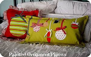 Christmas project make painted ornament pillows for Christmas pillows to make