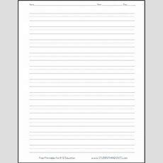 Dashed Line Handwriting Practice Paper Printable Worksheet For Primary School Kids Home