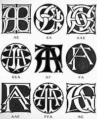 monograms ciphers  circasassy tags typography
