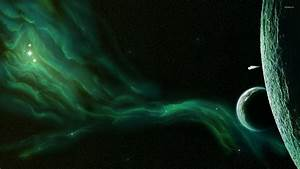 Green nebula [2] wallpaper - Space wallpapers - #34128
