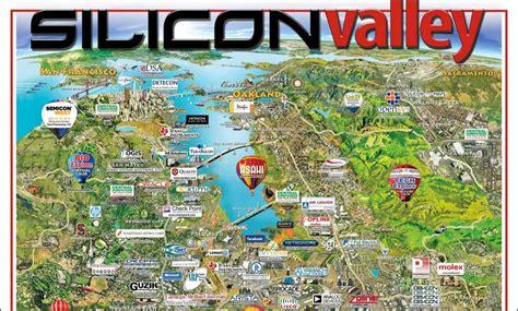 silicon valley map silicon valley area map california