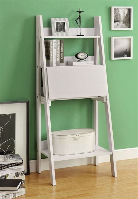 leaning ladder bookshelf with laptop desk best 22 leaning ladder bookshelf and bookcase collection
