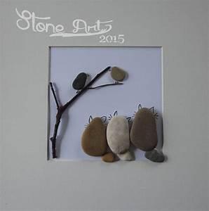 Steine Bemalen Katze : bilder bild katzen auf der lauer geschenk deko ein designerst ck von stone art2015 bei ~ Watch28wear.com Haus und Dekorationen