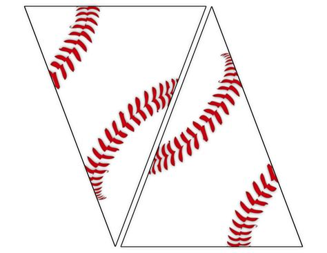 baseball template free printable baseball banner baseball decorations paper trail design