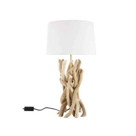 lampe  poser bois flotte maisons du monde
