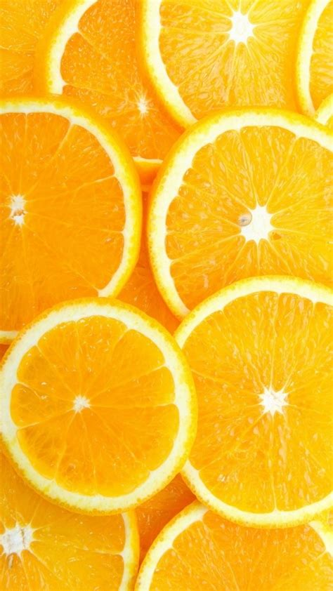 Orange Fruit Wallpaper by Fruit Orange Slice Overlap Background Iphone 6 Wallpaper