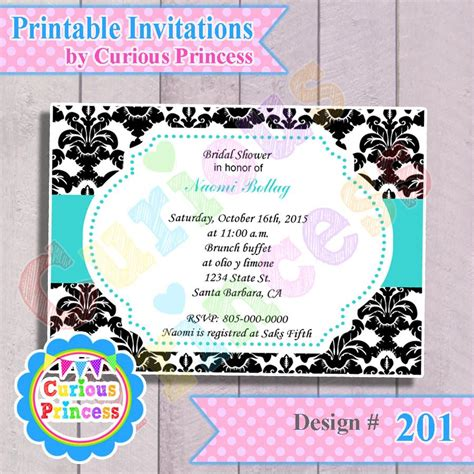 do it yourself turquoise geometric invitation party