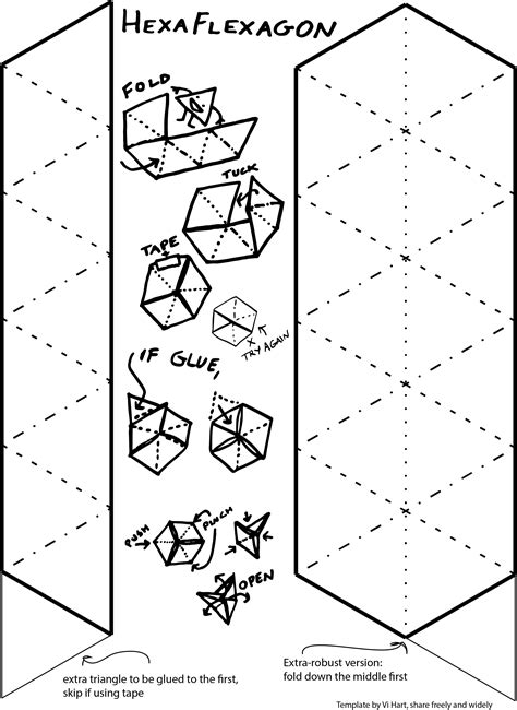 Hexaflexagon Template The Gallery For Gt Blank Papercraft Templates