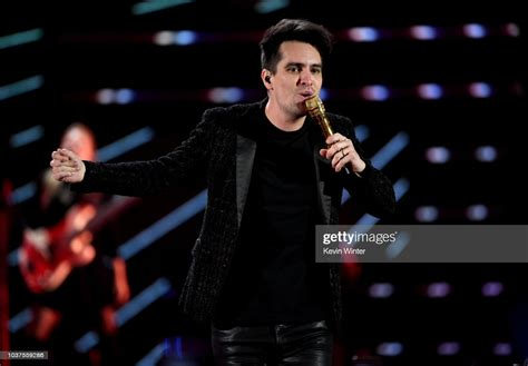 Brendon Urie Of Panic At The Disco Performs Onstage