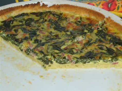 recette de cuisine en photo quiche aux feuilles de blettes sans lactose sans gluten