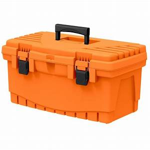 The Home Depot 19 in Plastic Tool Box with Metal Latches